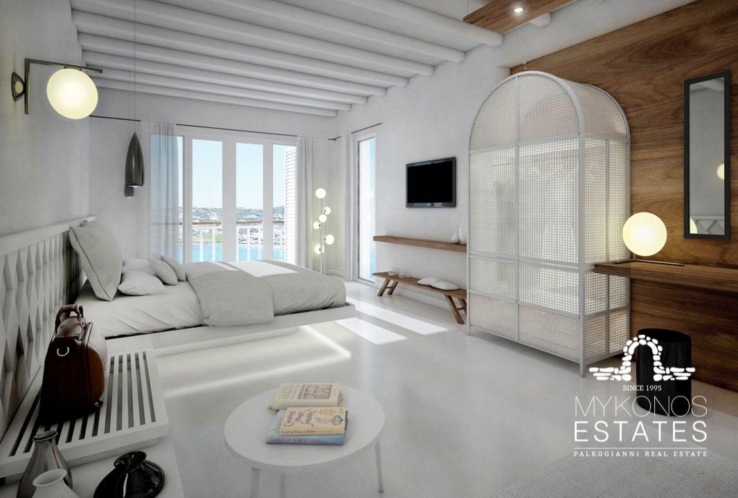 Mykonos Estates rental villa interior living area