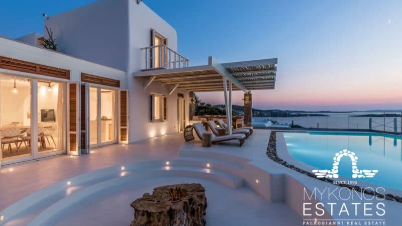 Estia villa view from patio