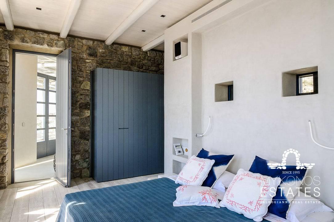 Luxury Mykonos villa bedroom