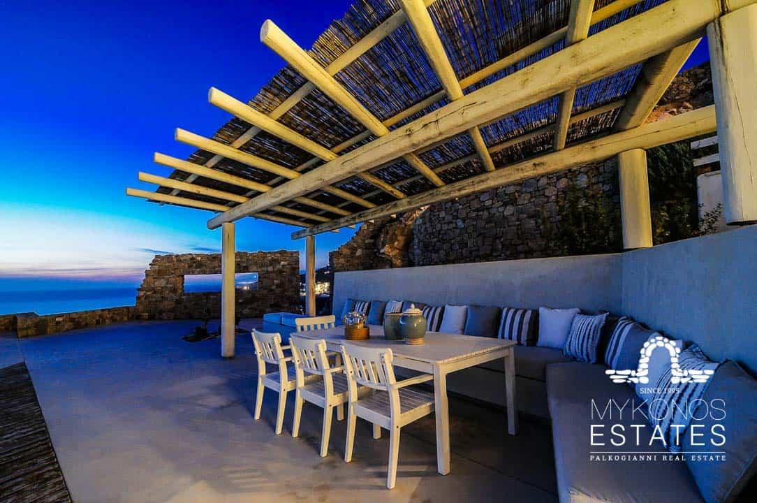 Luxury Mykonos Villa patio